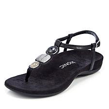 Vionic Orthotic Gwinn Bead Toe Post Sandal w/ FMT Technology