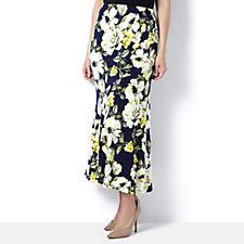 Kim & Co Brazil Knit Dazzling Peonies Maxi Skirt