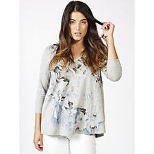 Fashion by Together Placement Print Top