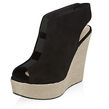167190 - Mitarotonda Suede Wedge Sandal