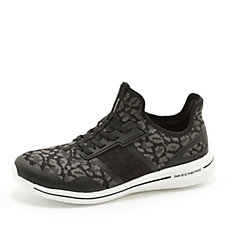 Skechers Burst 2.0 Game Changing Leopard Print Bungee Slip On Trainer