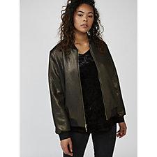 Ronni Nicole Metallic Bomber Jacket