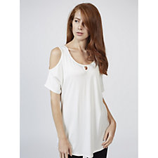Grace Cold Shoulder Tunic with Keyhole Detail