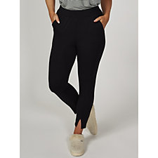 Cuddl Duds Ultra-Soft Comfort Seamed Front Cropped Trousers