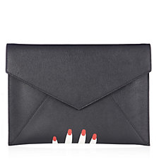 Lulu Guinness Brooke Leather Clutch
