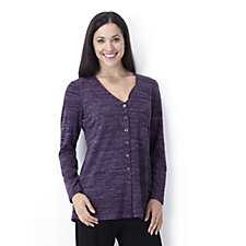 Kim & Co Cosy Knit Long Sleeve Button Through Cardigan
