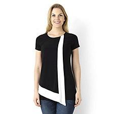 Short Sleeve Colourblock Tunic by Nina Leonard