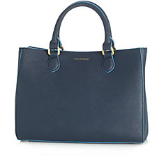Lulu Guinness Saffiano Leather Medium Amelia Tote Bag