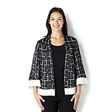 Trinny & Susannah Print Flared Sleeve Jacket