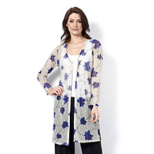 159291 - Printed Lace Duster by Michele Hope