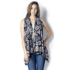 Floral Print Waistcoat by Michele Hope