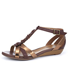 Clarks Bianca Shade Sandal with Small Wedge Heel