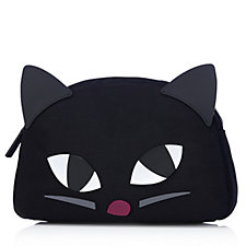 Lulu Guinness Kooky Cat Large Cresent Pouch