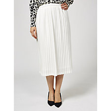 Helene Berman Elastic Waist Pleated Skirt
