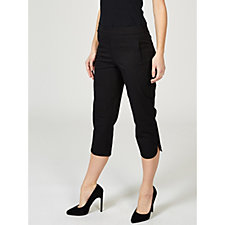 Isaac Mizrahi Live 24/7 Stretch Cropped Pull On Trousers, Petite
