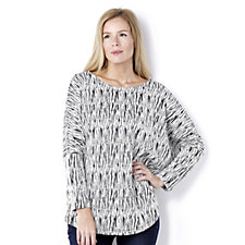 MarlaWynne Reversible Textured Zip Back Poncho