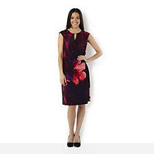 Ronni Nicole 'O So Slim' Cap Sleeve Bold Floral Print Dress