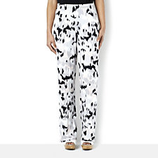 Marble Printed Jersey Trouser