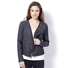 H by Halston Knitted Moto Jacket