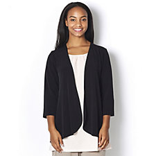 Kim & Co Brazil Knit 3/4 Sleeve Long Back Cardigan
