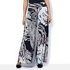 Coco Bianco Printed Jersey Palazzo Trouser