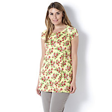 Kim & Co Venechia Tea Roses Cap Sleeve Tunic