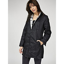 Dennis Basso Reversible Water Resistant Quilted Jacket