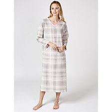 Carole Hochman Micro Fleece Printed Lounger Long Nightgown
