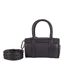 Amanda Wakeley The Mini Hendrix Leather Barrel Bag with Crossbody Strap