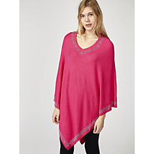 Frank Usher Crystal Edge Pattern Knitted Poncho
