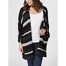 Join Clothes Graphic Bold Stripe Cardigan