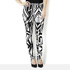 Attitudes by Renee Geometric Print Jersey Trouser