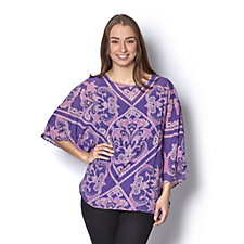 Bob Mackie Printed Kaftan and Vest Set