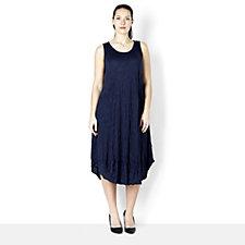 Yong Kim Crinkle Dress with Pocket & Zip Back Detail