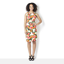 Ronni Nicole Sleeveless Floral Print Cotton Shift Dress