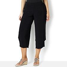 Yong Kim Stretch Jersey Pintuck Detail Trouser