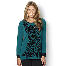 Bob Mackie Velvet Flocked Top