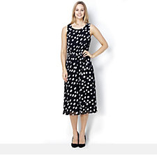 Coco Bianco Sleeveless Spot Print Chiffon Midi Dress