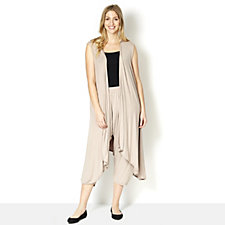 164693 - Join Clothes Sleeveless Duster with Dipped Sides