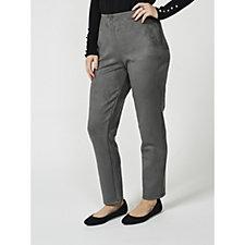 MarlaWynne Faux Suede Skinny Trousers