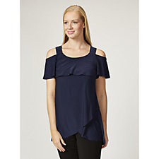 Grace Cold Shoulder Tulip Hem Tunic
