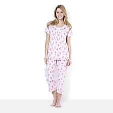 Carole Hochman Ultra Jersey Floral 2 Piece Pyjama Set