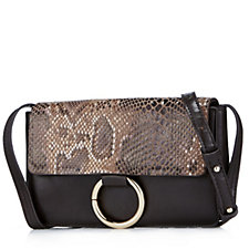 Frank Usher Leather Flap Structured Handbag