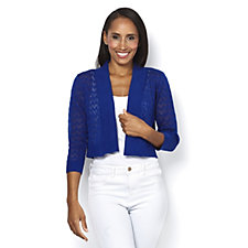 Ronni Nicole 3/4 Sleeve Crochet Shrug