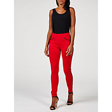 Nygard Slims Faux Leather Piping Jeggings