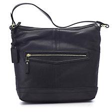 Tignanello Pretty Pockets Glove Texture Zip Hobo Handbag