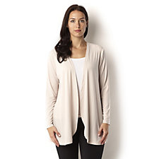 Jersey Drape Front Cardigan by Michele Hope