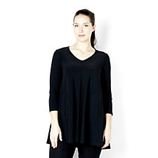 Yong Kim Jersey Tunic with Front Pocket Detail