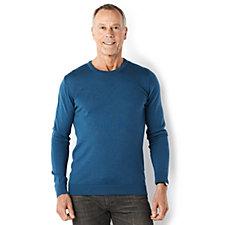 J Masters Men's 100% Merino Wool Round Neck Sweater