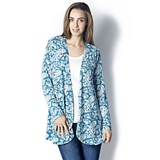 Floral Paisley Printed Cardigan by Michele Hope